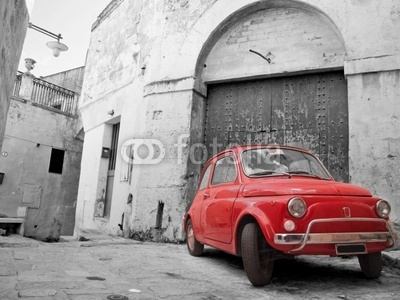 Red Classic Car.