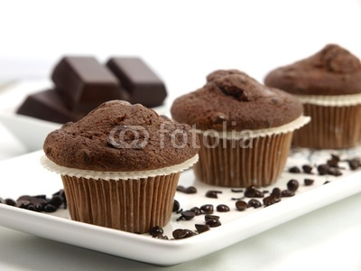 Fresh baked chocolate muffins