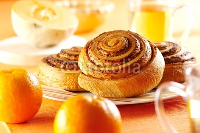 rolled bread product with chestnut cream