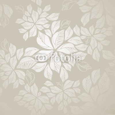 Seamless silver leaves wallpaper