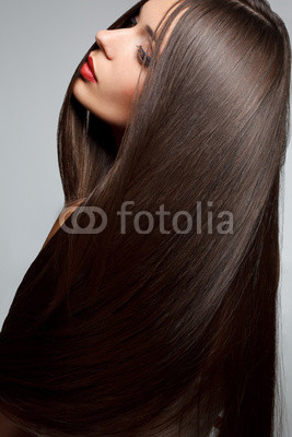 Woman with smooth hair. High quality image.