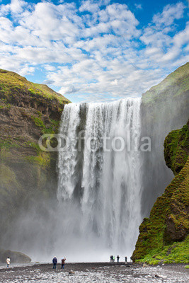 waterfall green iceland