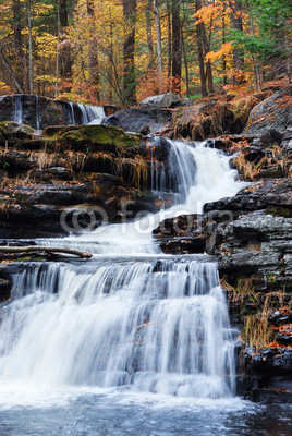 Autumn Waterfall in mountain